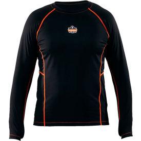 Ergodyne N-Ferno® 6435 Thermal Base Layer Long Sleeve Shirt, Black, Large