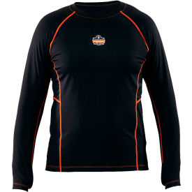 Ergodyne CORE Performance Work Wear™ 6435 Long Sleeve Shirt, Black, 2XL