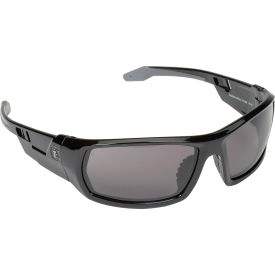 Ergodyne® Skullerz® Odin Safety Glasses W/Fog-Off, Smoke AF Lens, Black Frame