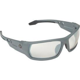 Ergodyne® Skullerz® Odin Safety Glasses, Indoor/Outdoor Lens, Matte Gray Frame