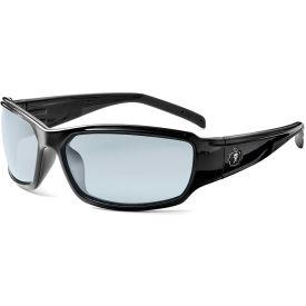Ergodyne Skullerz Thor Safety Glasses, Indoor/Outdoor Lens, Black Frame Package Count 12 by