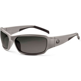 Ergodyne® Skullerz® Thor Safety Glasses, Smoke Lens, Matte Gray Frame