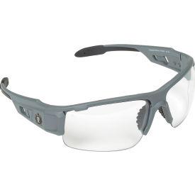 Ergodyne® Skullerz® Dagr Safety Glasses, Clear Lens, Matte Gray Frame