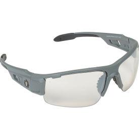 Ergodyne® Skullerz® Dagr Safety Glasses, Indoor/Outdoor Lens, Matte Gray Frame