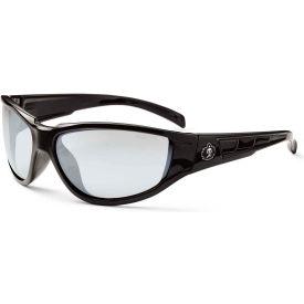 Ergodyne Skullerz Njord Safety Glasses, Indoor/Outdoor Lens, Black Frame Package Count 12 by