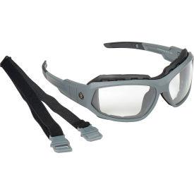 Ergodyne® Skullerz® Loki Safety Glasses/Goggles W/Fog-Off, Clear AF Lens, Matte Gray Frame