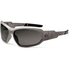 Ergodyne® Skullerz® Loki Safety Glasses/Goggles, Smoke Lens, Matte Gray Frame - Pkg Qty 12