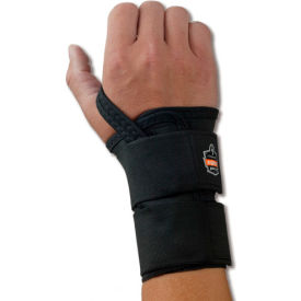 Ergodyne® ProFlex® 4010 Double Strap Wrist Support, Black, Large, Right