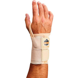 Ergodyne® ProFlex® 4010 Double Strap Wrist Support, Tan, Medium, Right