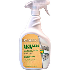 ECOS® Pro Stainless Steel Cleaner, 32 oz. Trigger Spray Bottle, 6 Bottles - PL9330/6
