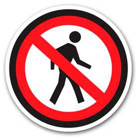 """Durastripe 20"""" Round Sign - No Pedestrian - No Text"""