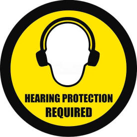 "Durastripe 20"" Round Sign - Hearing Protection Required"
