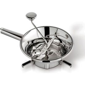 """Tellier N3002X - Food Mill, 1 Qt. Capacity, 3 Sieve Cutting Plates, Stainless Steel, 7"""" Dia."""