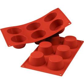 Eurodib/ Silikomart - Siliconflex Silicone Mold - Medium Muffin 2.71'' Dia.