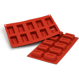Silikomart SF091 - Baking Mold, Lingotto, Silicone, Make 10 Pieces