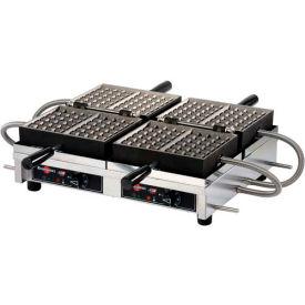 Krampouz Double Waffle Maker 180° Opening, 240V WECCBBAT by
