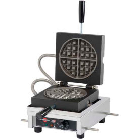 Krampouz Single Round Waffle Maker 90° Opening, 120V WECCCCAS by