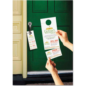 "Avery® Door Hanger W/Tear-Away Cards 16150, 9-1/2"" x 12-1/8"", White, 80/Pack"