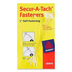 "Avery® Secur-A-Tach Fasteners, 5"" Length, White, 1000/Box"