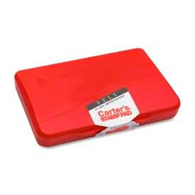 """Avery® Carter's Felt Stamp Pad, 2-3/4"""" x 4-1/4"""", Red"""
