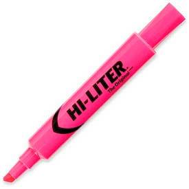 Avery Hi-Liter Desk Style Highlighter, Chisel Tip, Fluorescent Pink Ink, Dozen by