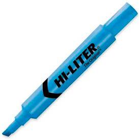 Avery Hi-Liter Desk Style Highlighter, Chisel Tip, Fluorescent Blue Ink, Dozen by