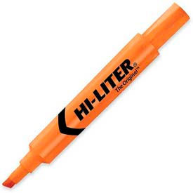 Avery Hi-Liter Desk Style Highlighter, Chisel Tip, Fluorescent Orange Ink, Dozen by