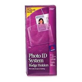 "Avery Hanging Style Photo ID Badge Holders, Horizontal, 3"" x 4"", 100/Box by"