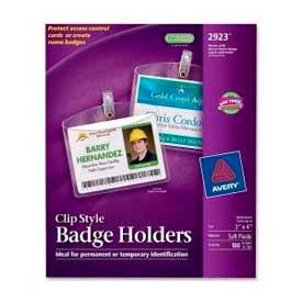 "Avery Clip Style Photo ID Badge Holders, Horizontal, 3"" x 4"", 100/Box by"
