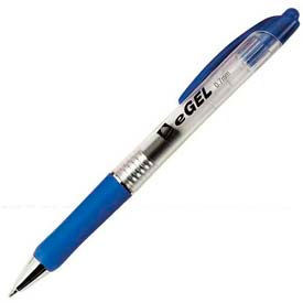 Avery® eGEL Retractable Gel Pen, 0.7mm, Clear Barrel, Blue Ink