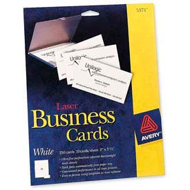 """Avery® Business Card, 2"""" x 3-1/2"""", White, 250 Cards/Pack"""