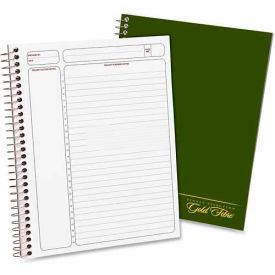 "Esselte® Gold Fibre Project Planner, Green Cover, White Paper, 7-3/4"" x 9-1/2"", 84 Sheets/Pad"