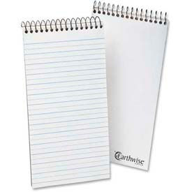 """Esselte® Earthwise Recycled Reporter's Notebook, 4"""" x 8"""", White, 70 Sheets/Pad"""