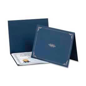 "Esselte® Oxford Certificate Holder, 25"" x 8-1/2"", Dark Blue, 5/Pack"