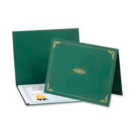 "Esselte® Oxford Certificate Holder, 25"" x 8-1/2"", Hunter Green, 5/Pack"