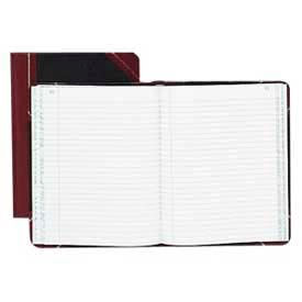 "Boorum & Pease® Account Book, Record Ruled, 9-5/8"" x 7-5/8"", Black Cover, 150 Sheets/Pad"