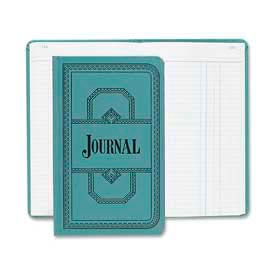 "Boorum & Pease Account Book, Journal Ruled, 12-1/8"" x 7-1/2, Blue Cover, 500 Sheets/Pad by"