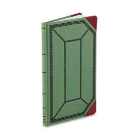 "Boorum & Pease Account Book, Record Ruled, 12-1/2"" x 7-3/4"", Olive Green Cover, 150 Sheets/Pad by"