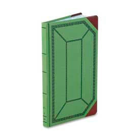 "Boorum & Pease Account Book, Record Ruled, 12-1/2"" x 7-3/4"", Olive Green Cover, 300 Sheets/Pad by"