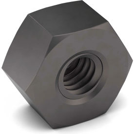 3/8-24 Heavy Hex Nut 2H Carbon Steel Plain Fine Package of 100 by