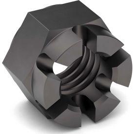 1 1/8-12 Hex Castle Nut - Grade 5 - Carbon Steel - Zinc Clear - Fine - Pkg of 5