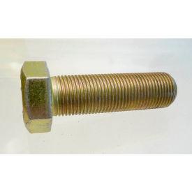 "Hex Tap Bolt Grade 8 - 3/8-16 x 5"" - FT - UNC - Steel - Zinc Yellow - Pkg of 25 - Earnest 694324"