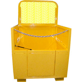 Saf-T-Lift 4' x 4' Steel Forklift Basket 1000lb. Capacity, Hi-Vis Safety Yellow - FB4X4