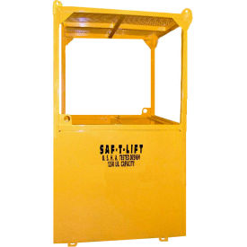 Saf-T-Lift 3' x 3' Steel Personnel Basket 1250lb. Capacity, Hi-Vis Safety Yellow - PB3X3