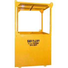 Saf-T-Lift 4' x 4' Steel Personnel Basket 1250lb. Capacity, Hi-Vis Safety Yellow - PB4X4