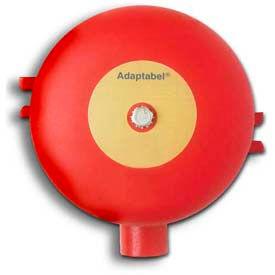 "Edwards Signaling, 438D-8N5-R, Vibrating Fire Alarm Bell 8"", 120 V, 60 HZ, Red Diode"