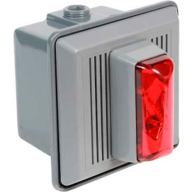 Edwards Signaling 868STRR-AQ Surface Mount Horn Strobe For Outdoor Use 24V AC/DC Red