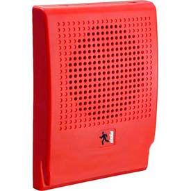 Edwards Signaling, G4HFRN-S7VMC, Wall Speaker, Strobe, 70 V, Red