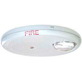 Edwards Signaling EGCF-HDVMH, Multi High-cd Horn-Strobe, Ceiling Mount, White, Marked Fire