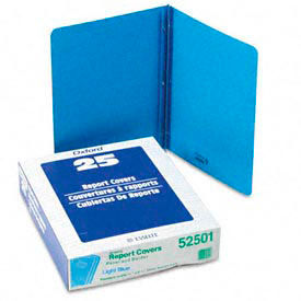 Title Panel And Border Front Report Covers, Light Blue, 25 Per Box by